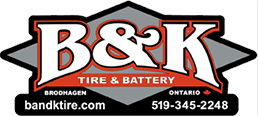 B & K Tire & Battery logo